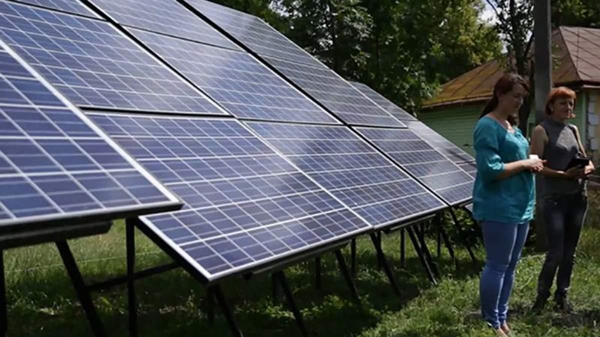 Жители села самостоятельно построили солнечную электростанцию
