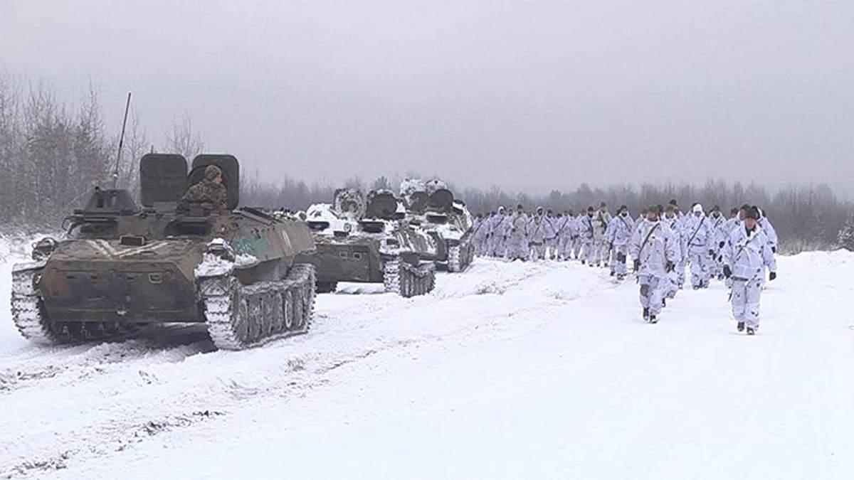 Колонна танков и импровизированные бои: на Львовщине резервисты провели учения с военными