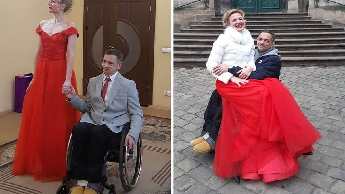 Ветеран войны и волонтерка устроили необычную свадьбу: трогательные фото, видео
