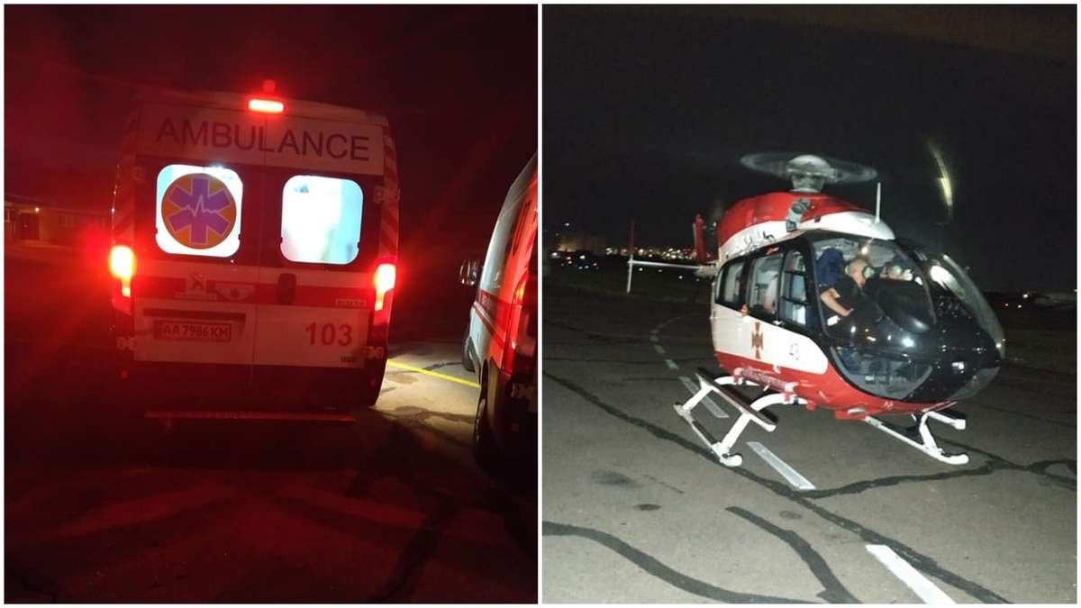 ДТП у Дубины: травмированную девочку на вертолете перевезли в Киев