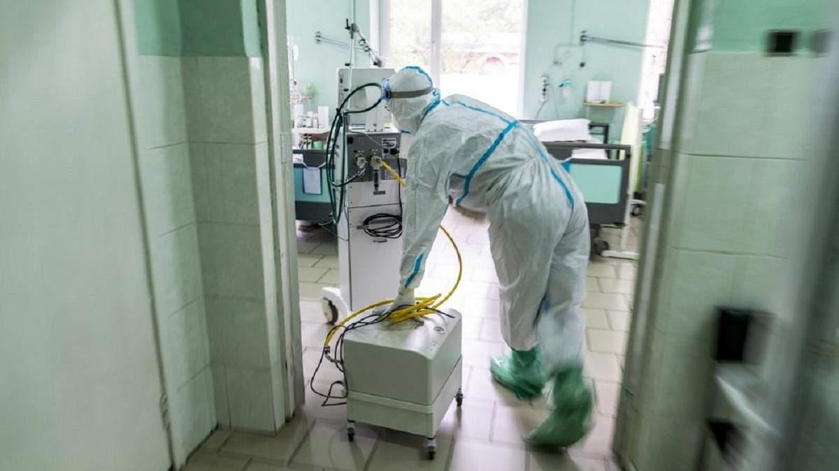 На Львівщині лікарні першої хвилі для пацієнтів з COVID-19 заповнені на 90%