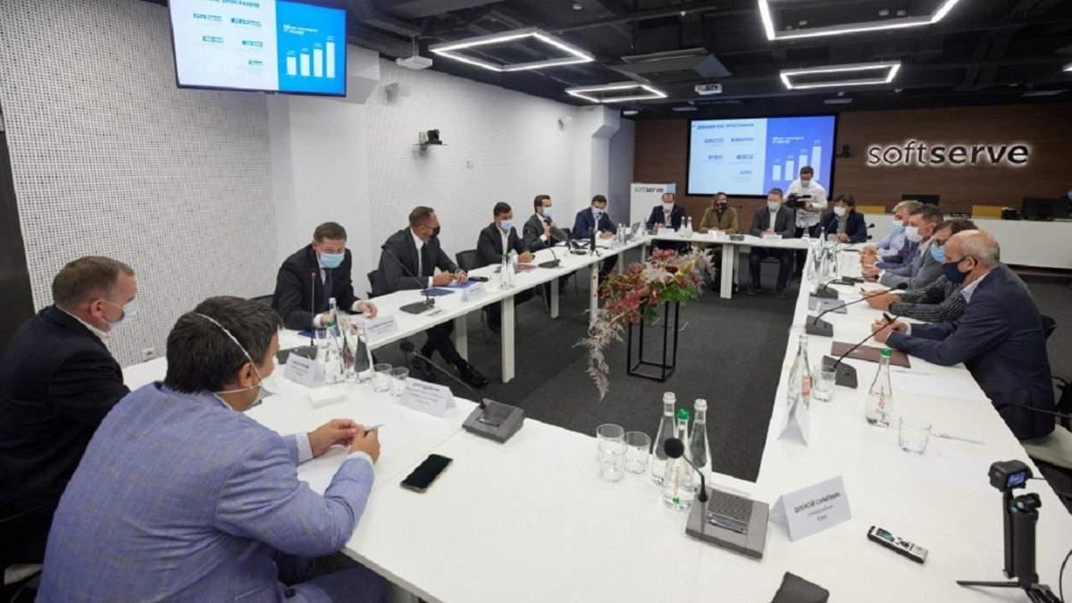 Зеленский встретился с представителями IТ-сферы во Львове