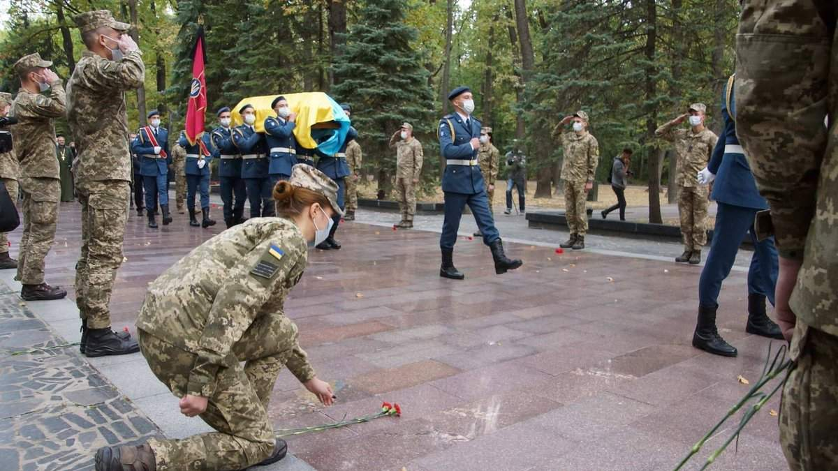 Похорони загиблих курсантів Ан-26 під Харковом: фото, відео