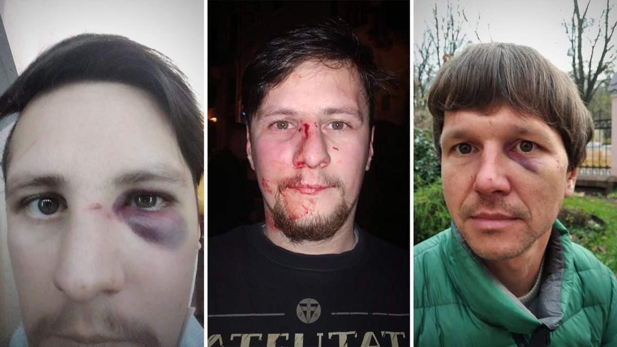 В центре Львова жестоко избили активистов и бывших участников войны – Андрея Мочурада и Виктора Бараника: нападавшими оказались работники полиции