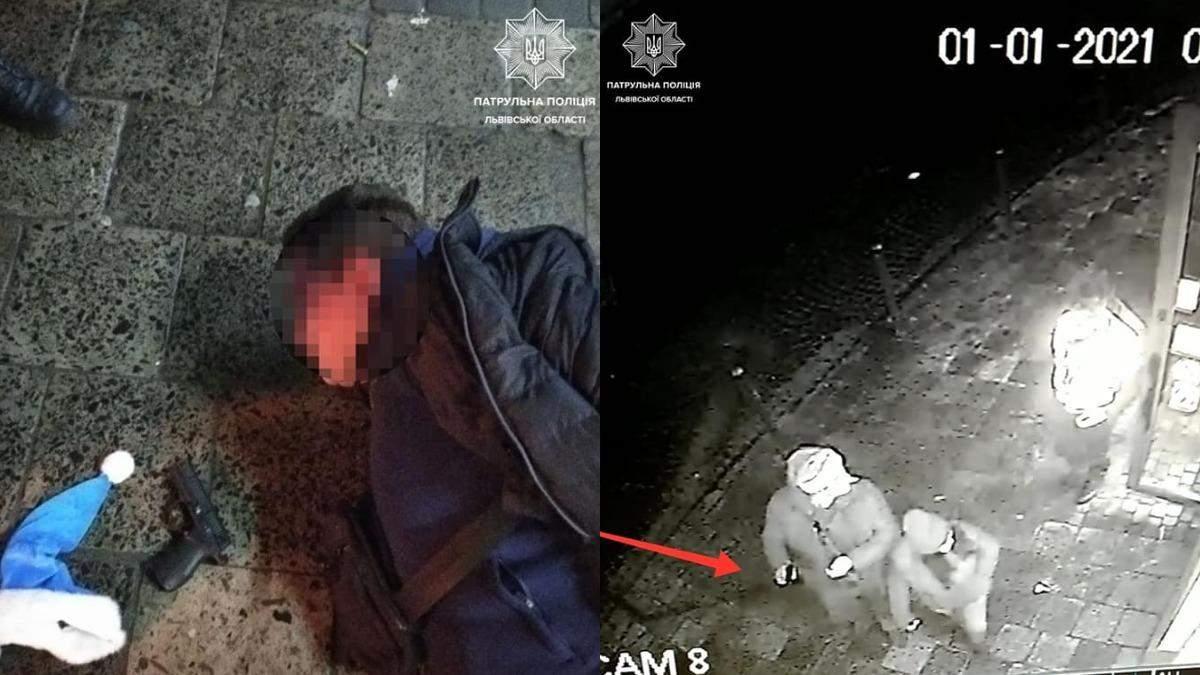 В центре Львова мужчина устроил стрельбу в новогоднюю ночь