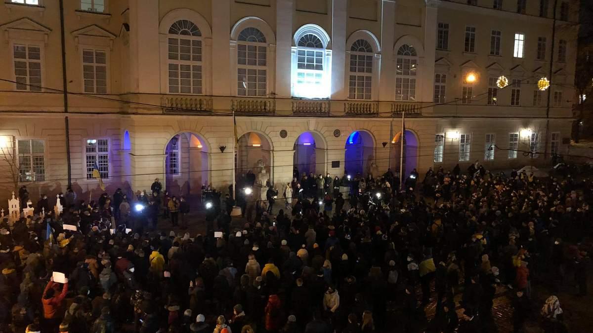 Сегодня его, а завтра – нас: Львов присоединился к массовым акциям в поддержку Стерненко