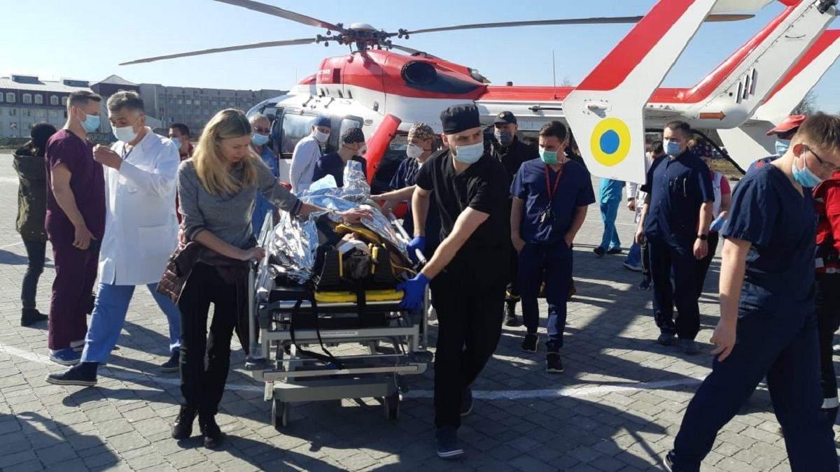 Медична авіація стає нормою: до Львова гелікоптером привезли вже другого пацієнта