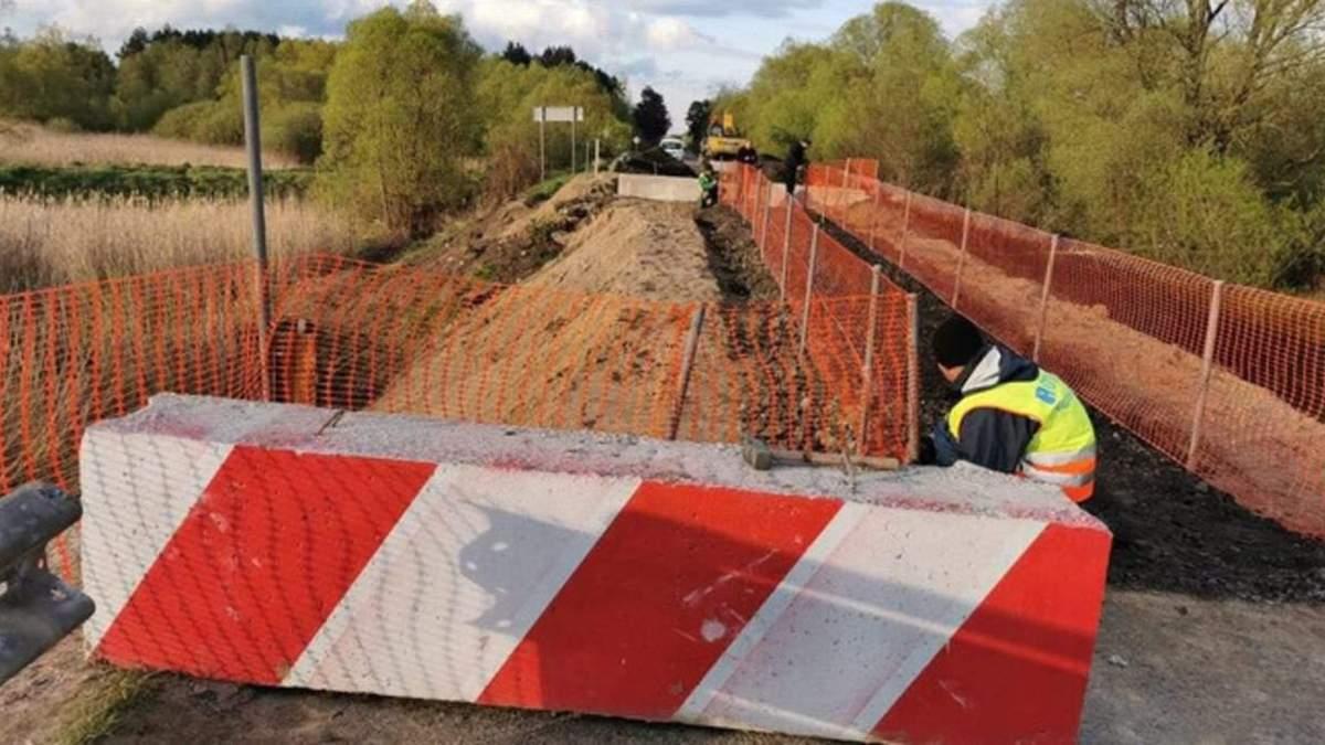Короткой дорогой: как будут ездить маршрутки через разрушенный мост на трассе Львов - Луцк