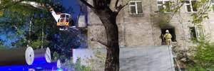 У будинку немає ні води, ні газу, – Садовий про масштабну пожежу на Виговського у Львові