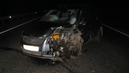 На Львовщине авто столкнулись лоб в лоб: фото аварии