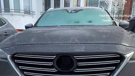 Во Львове вор закопался в снег, чтобы его не поймали полицейские: фото